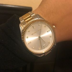 Michael Kors two toned silver gold watch